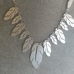 Bancroft Jewelry - Silver Feather Necklace